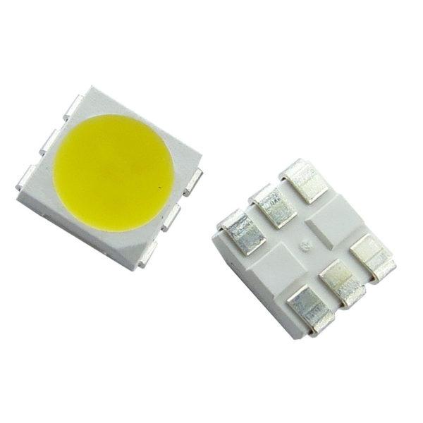 LED SMD 5050 PLCC Branca quente