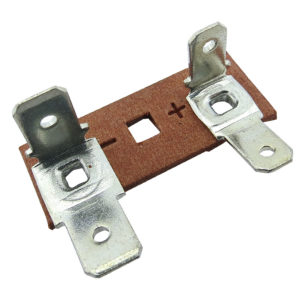 ponte para falante fibra vermelha terminais faston duplos 4 e 6mm 560.027