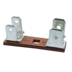 ponte para falante fibra vermelha terminais faston duplos 90 4 e 6mm 560.067 02