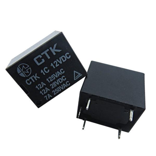 Relê Miniatura de Potência CTK 1C-12A-12VDC