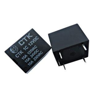 Relê Miniatura de Potência CTK 1C-15A-12VDC