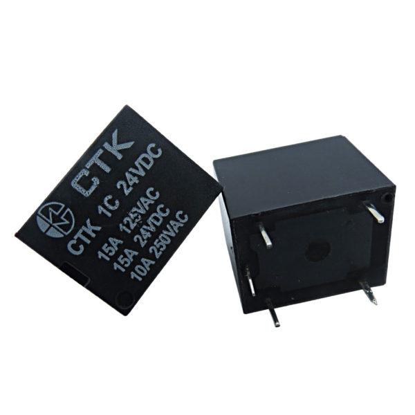 Relê Miniatura de Potência CTK 1C-15A-24VDC