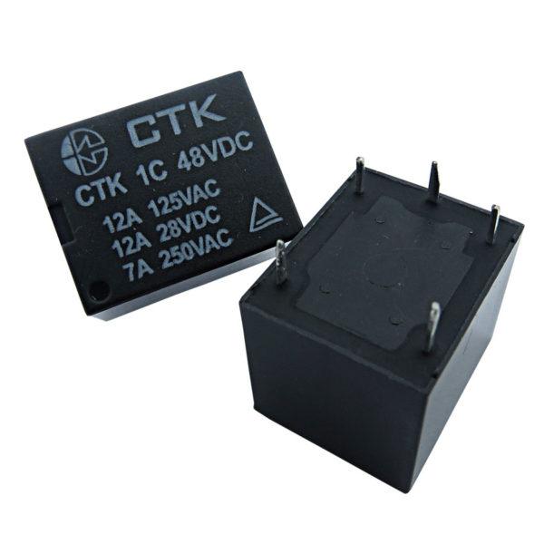 Relê Miniatura de Potência CTK 1C-12A-48VDC