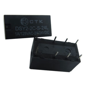 Relê Miniatura de Potência CTK DSY2-2C-S-24L