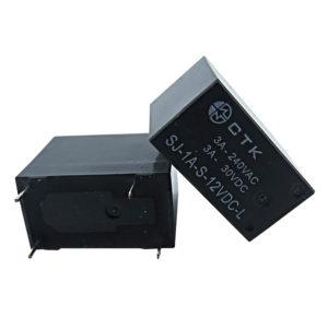 Relê Miniatura de Potência 1 contato normal aberto CTK SJ-1A-S-12VDC
