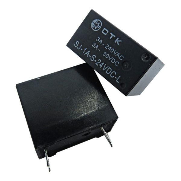 Relê Miniatura de Potência 1 contato normal aberto CTK SJ-1A-S-24VDC