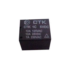 Relê Miniatura de Potência CTK 1C-12A-06VDC