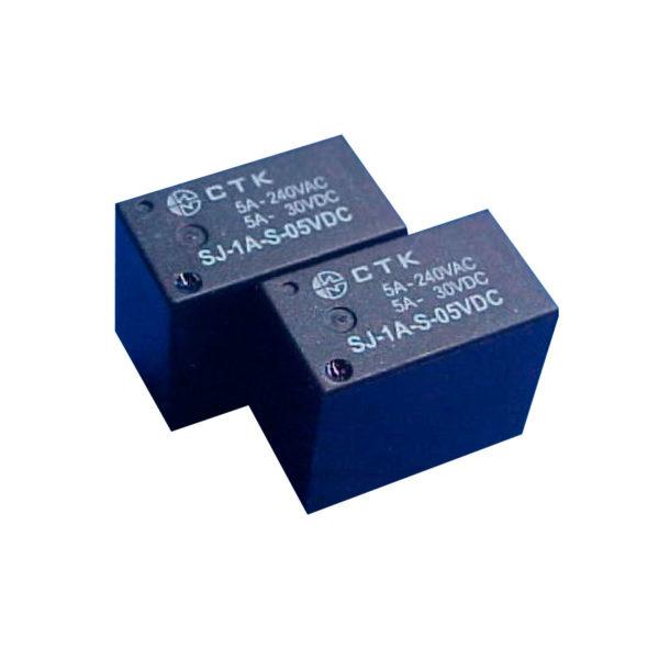 Relê Miniatura de Potência 1 contato normal aberto CTK SJ-1A-S-05VDC
