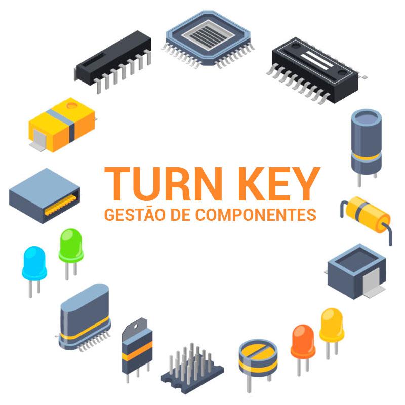 turn key componentes eletronicos montagem