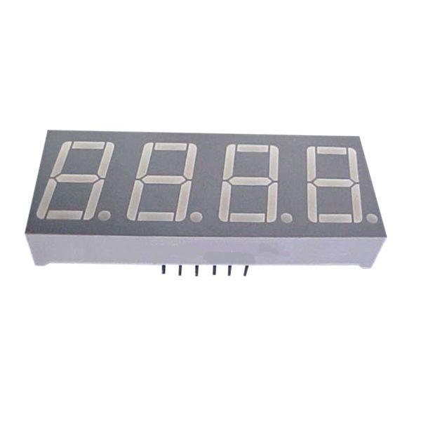 display led quadruplo 7 segmentos azul 0.56 catodo multiplexado D4156KB 14BL foto