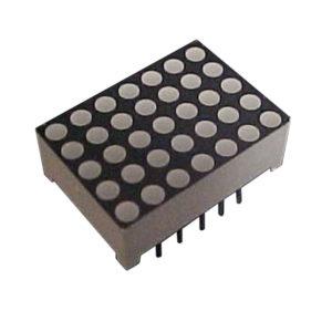 "Display Matriz de Pontos 0.7"" Azul 5x7 Face Preta Anodo - D577B-P"