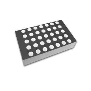 display matriz de pontos 1.2 amarelo 5x7 face preta anodo D3571UYB P foto