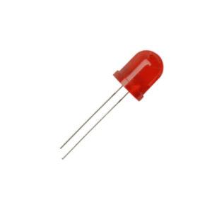 led pth 10mm vermelha alaranjado encapsulamento vermelho difuso l113 urs