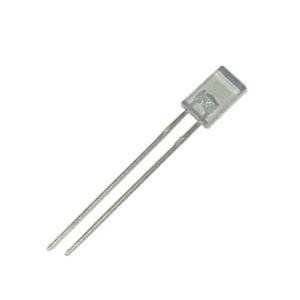 LED PTH Retangular Verde Encapsulamento Hialino L2261H