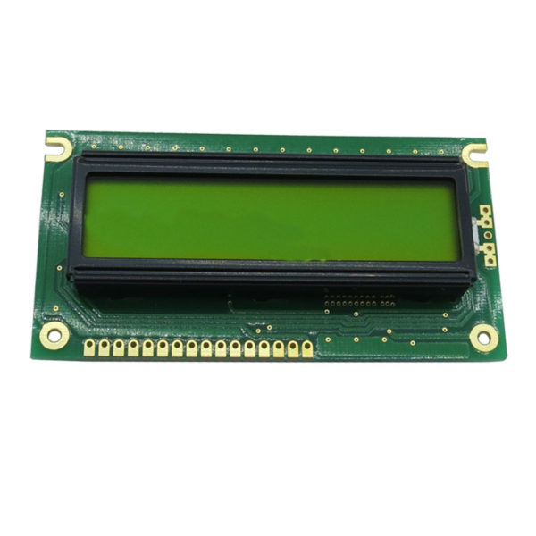 display lcd 16 caracteres 2 linhas backlight verde 84x44x13,2mm WH1602A-YYH-JT#