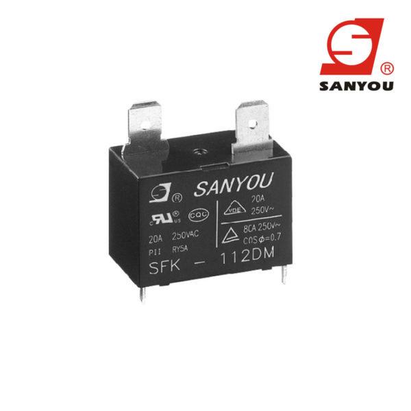 Relê Sanyou SFK 112dm 12vcc 20a para Ar Condicionado