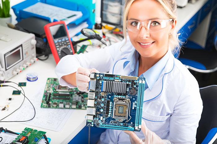 engenharia de montagem de pacas eletronicas